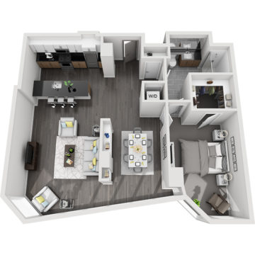 Rendering of the Crestone Peak floor plan layout