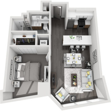 Rendering of the Grays Peak floor plan layout