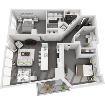 Rendering of the Humboldt Peak floor plan layout