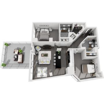 APT E2009 floor plan