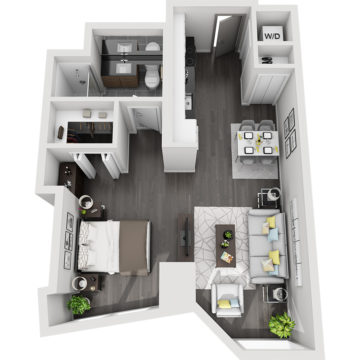 Rendering of the Little Bear Peak floor plan layout