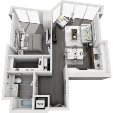 Rendering of the Longs Peak floor plan layout