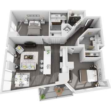 Rendering of the Maroon Peak floor plan layout