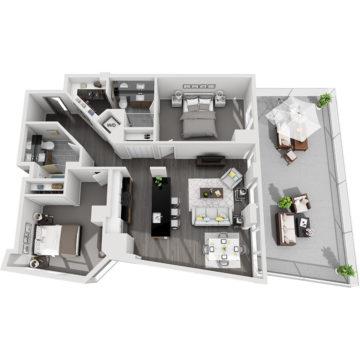 APT E0611 floor plan