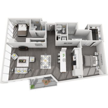 Rendering of the Mt. Antero floor plan layout