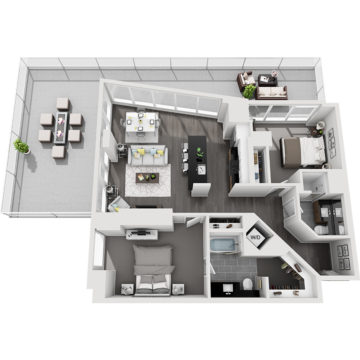 Rendering of the Mt. Bross floor plan layout