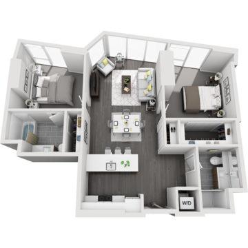 APT W1204 floor plan