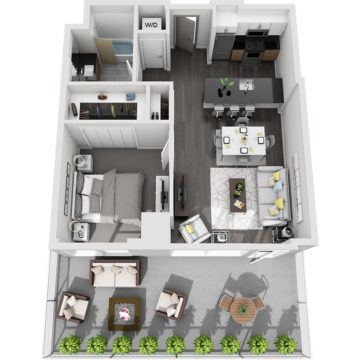 Rendering of the Mt. Lindsey floor plan layout