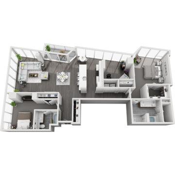 APT W3204 floor plan