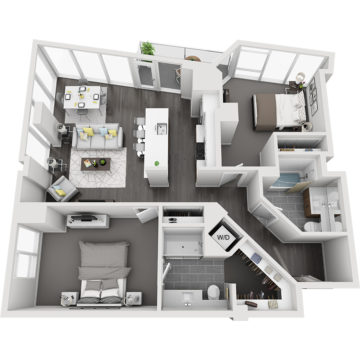 Rendering of the North Maroon Peak floor plan layout
