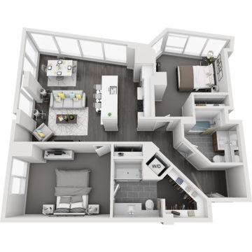APT W0612 floor plan