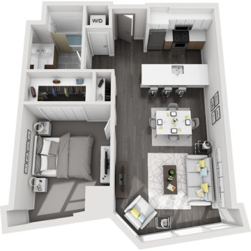 Rendering of the Pikes Peak floor plan layout