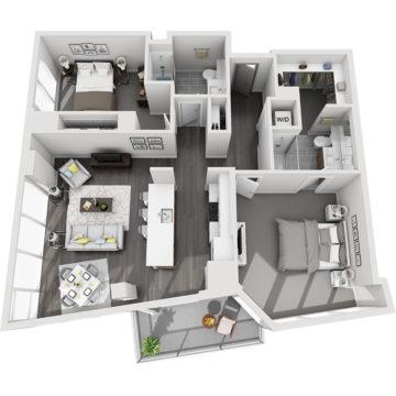 APT W2807 floor plan