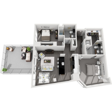 APT E2707 floor plan