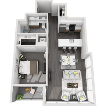Rendering of the Sunshine Peak floor plan layout