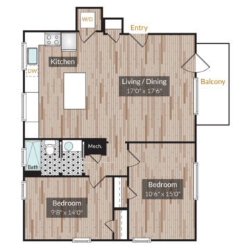 APT 101 floor plan