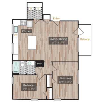 APT 201 floor plan