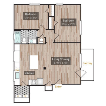 APT 302 floor plan